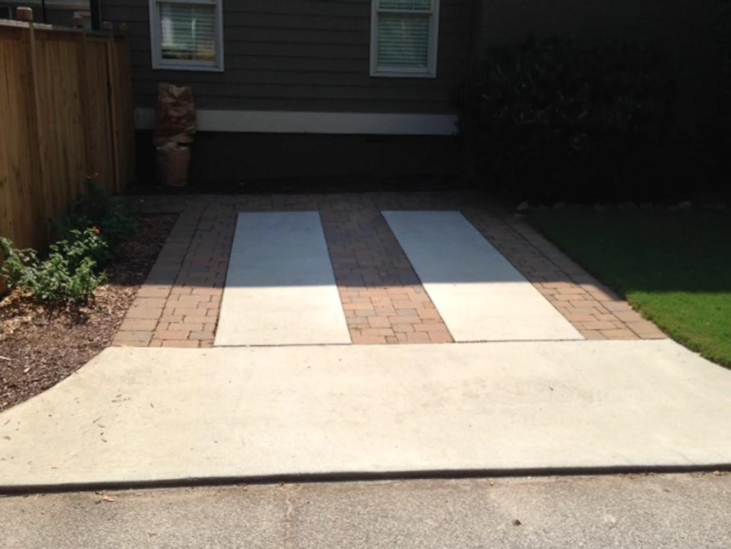 brick accent patios