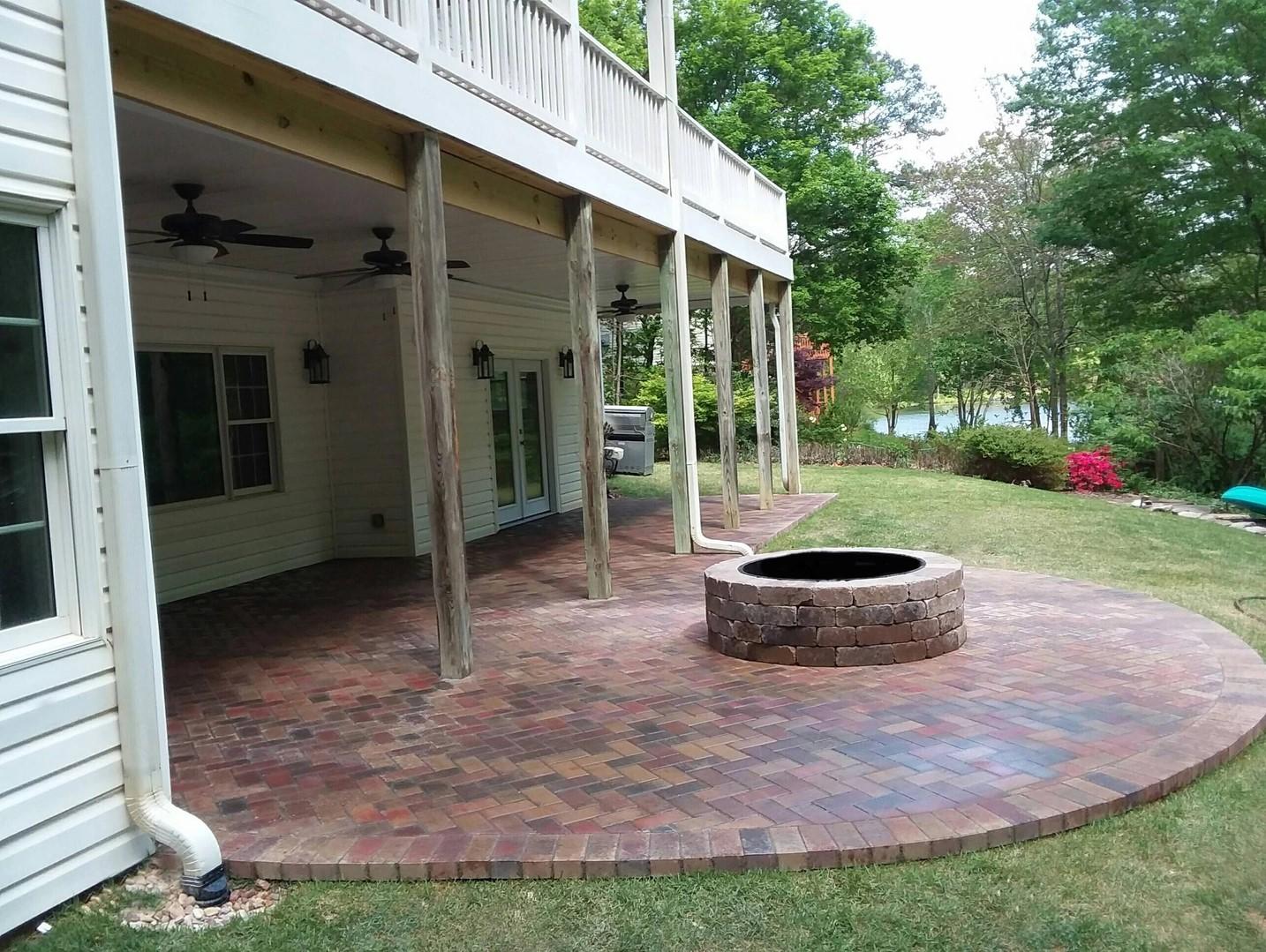 fire pit brickwork