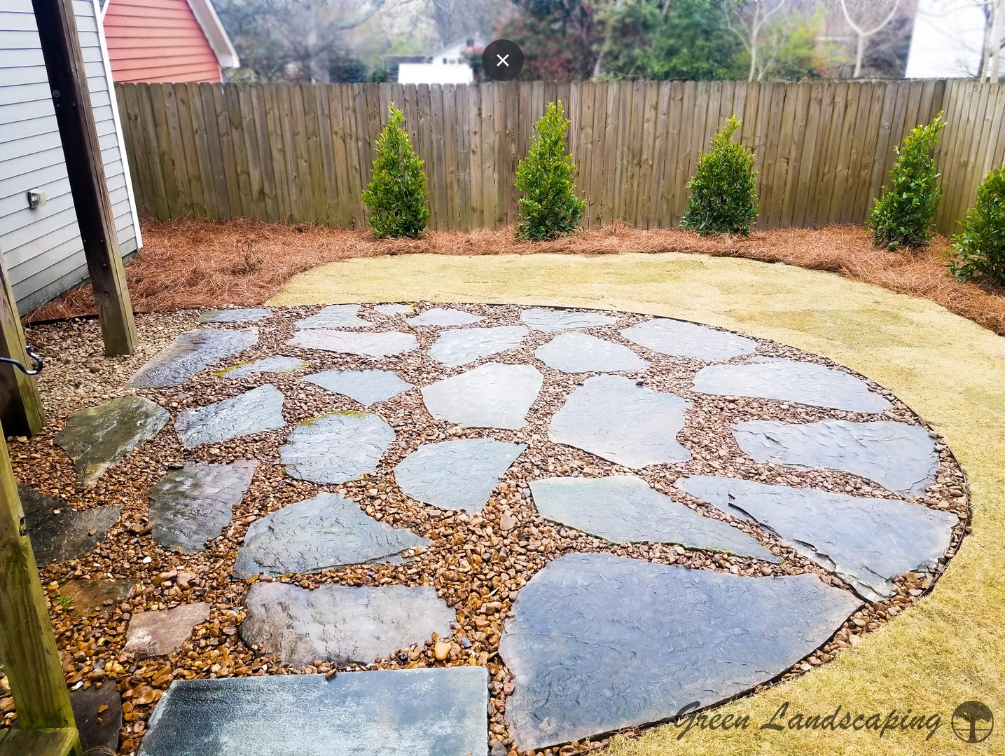 gravel and flagstone patios